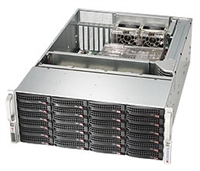 "Supermicro Black 4U SuperChassis CSE-846E1-R900B 4U Storage Chassis with Expender for Scalability 24x 3.5"" Hot-swap SAS Drive Bays with SES2 2x 2.5"" Hot-swap SAS Drive Bays on rear side of Chassis1280W Redundant Power Supplies Full Warranty"