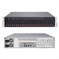 Supermicro SuperStorage 2027R-E1R24L 2U DP Xeon E5-2600 LGA2011 DDR3 24x2.5-in SAS2/SATA3 Hot-Swap JBODexp R920W SSG-2027R-E1R24L Black