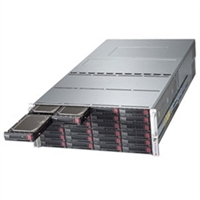 Supermicro SuperStorage Server 6047R-E1R72L Dual Socket R LGA2011 4 ports GbE Controller 72 SAS2/SATA3 HDDs 3xIT mode SAS2 Storage Controllers LSI 2308 Server Remote Management IPMI 2.0 Triple redundant platinum level power supply Full Warranty