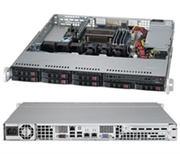 "Supermicro 1U SuperServer SYS-1018D-73MTF Single socket H3 LGA 1150 Intel C222 Express PCH 8x 2.5"" Hot-swap SAS2/SATA3 HDD bays Dual Gigabit Ethernet LAN ports via Intel i210AT Integrated IPMI 2.0 330W Gold Level Power Supply Full Warranty"