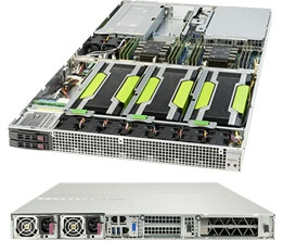 Supermicro 1029GQ-TRT GPU SuperServer, 1U Rackmount, Dual socket P (LGA 3647), Supports up to 4 NVIDIA GPUs in 1U