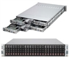 "Supermicro Superserver SYS-2027TR-HTQRF 2U Dual socket R (LGA 2011) supports Intel Xeon processor E5-2600 Intel i350 Dual port Gigabit Ethernet 6x Hot-swap 2.5"" SATA HDD Bays 1620W Redundant Power Supplies Full Warranty"