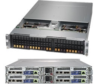 Supermicro SYS-2029BT-HNC0R SuperServer/ BigTwin/ 2U Rackmount/ X11DPT-B Moterhboard/ Dual LGA 3647/ Intel C621/ PCI-E3.0/ IPMI 2.0 + KVM/ Hot-pluggable Systems/ Complete System Only
