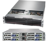 Supermicro SYS-2029BT-HTR SuperServer/ 2U Rackmount/ X11DPT-B Moterhboard/ Dual LGA 3647/ Intel C621/ PCI-E3.0/ IPMI 2.0 + KVM/ Hot-pluggable Systems/ Complete System Only