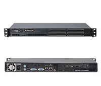"Supermicro 1U Server SYS-5015A-EHF Barebone Intel Atom D510 Up to 4GB single channel unbuffered 2x Intel 82574L Gigabit LAN 1 PCI-E 2.0 x4 in x16 slot Onboard Matrox G200eW video 1x 3.5"" or Up to 2x 2.5"" Internal Drives 200W Power Supply Full Warranty"