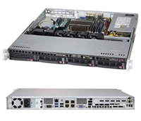 "Supermicro 1U Server SYS-5018D-MTLN4F Barebone Single socket H3 LGA 1150 supports Intel Xeon E3-1200 Intel C224 Express PCH 4x 3.5"" Hot-swap SATA3 HDDs Quad  GbE LAN ports IPMI 2.0 350W Gold Level Power Supply Full Warranty"