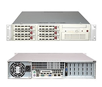 Supermicro 2U Beige Server SYS-5025M-4 Barebone single LGA 775 ZIF Socket 6x3.5'' Hot-swap SCSI drive bays PCI-e Gigabit Lan Port 400W Power Supply Full Height Full Length Low Profile expansions Redundant 520W power Full Warranty