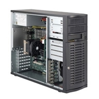 Supermicro Mid-Tower SuperServer SYS-5036A-T LGA 1366 Socket Intel Core i7 / i7 Extreme Edition,and Intel Xeon 5600/5500/3600/3500 Intel Dual 82574L GbE 4 x Hot-swappable SATA HDD Bays 500W High-Efficiency Power Supply Full Warranty