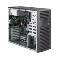 "Supermicro Mid-Tower SuperServer SYS-5037A-T LGA 1155 Intel® 2nd Generation Core i7/i5/i3, Pentium,Celeron processors supported 4x 3.5"" internal SAS/SATA HDD Bays 500W High-efficiency Power Supply Full Warranty"
