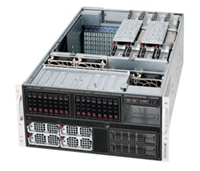 Supermicro 5U Server SYS-5086B-TRF Octal 1567-pin LGA Sockets Supports up to eight Intel Xeon 64-bit processor Dual GbE LAN Port 6x SATA2 ports onboard Intel Xeon 8-core 7500^ series 6x 9cm Hot-swap cooling fans 2800W hot-swap redundant PS Full Warranty