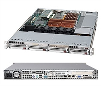 Supermicro 1U Black Server SYS-6015B-TB Barebone Dual LGA711 Sockets 560W 4 Hot-swap 3.5'' drive bays FH FL LP expansions SATA backplane ATI ES1000 Dual Gigabit Ethernet Controller IPMI2.0 Full Warranty
