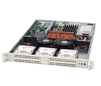 Supermicro 1U Beige Server SYS-6015C-NI Barebone Dual LGA 771 3x3.5'' Internal Hard drive bays Dual-port Gigabit Ethernet Controller w/IOAT Full Height Full Length Low Profile expansions Redundant 520W power Full Warranty