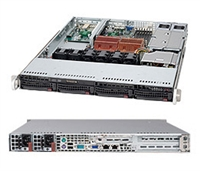 Supermicro 1U Black Server SYS-6015C-NTRB Barebone Dual LGA 771 4x3.5'' Hot-swap drive bays Dual Gigabit Ethernet Controller Full Height Full Length Low Profile expansions Redundant 650W power supply Full Warranty