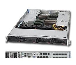 Supermicro 1U Server SYS-6016T-URF4+ Barebone Dual 1366-pin LGA Sockets  Supports up to two Intel 64-bit Xeon processors 2x Intel 82576 Dual-Port  GbE 4