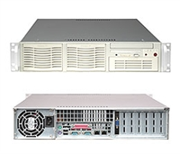 Supermicro 2U Server SYS-6024H-i Dual 604-pin FC-mPGA4 Sockets Supports up to two Intel 64-bit Xeon processor(s) 2x Intel 82541GI Single-port GbE 2 x Fixed 3-Hard Drive Carriers  550W Power Supply Full Warranty