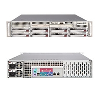 "Supermicro 2U Server SYS-6025B-3RV Dual Intel 64-bit Xeon Quad-Core or Dual-Core, 667/1066/1333MHz FSB Intel (ESB2/Gilgal) 82563EB Dual-port GbE 8 x 3.5"" Hot-swap SAS Drive Trays with SES2 700W High-efficiency Redundant  Power Supply Full Warranty"
