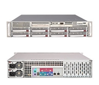 "Supermicro 2U Server SYS-6025B-TR+ Dual Intel 64-bit Xeon Quad-Core or Dual-Core, 667/1066/1333MHz FSB Intel (ESB2/Gilgal) 82563EB Dual-port GbE 8 x 3.5"" Hot-swap Drives Trays 6x SATA Hard Drives 700W High-efficiency Redundant Power Supply Full Warranty"