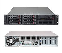 "Supermicro 2U Server SYS-6026T-TF Barebone Dual 1366-pin LGA Sockets Supports Intel Xeon processor 5600/5500Dual Intel 82574L Gigabit Ethernet Controller Integrated Graphics  IPMI 2.0 6 x 3.5"" Hot-Swap SATA Drive Bays 650W Power Supply Full Warranty"
