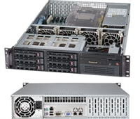 "Supermicro 2U Server Barebone SYS-6027B-TLF Dual socket B2 (LGA 1356) supports Intel Xeon processor E5-2400 Intel® 82574L Dual port GbE Integrated IPMI 2.0  6x Hot-swap 3.5"" SATA2 HDD Bays 650W High-efficiency Power Supply Full Warranty"