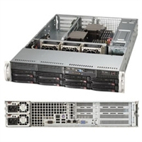 "Supermicro 2U Server Barebone SYS-6027B-URF Dual socket B2 (LGA 1356) supports Intel Xeon processor E5-2400Intel i350 Dual port Gigabit Ethernet Controller 2x LAN ports  8x 3.5"" Hot-swap SAS/SATA HDD bays 740W Redundant Power Supplies Full Warranty"