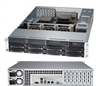 Supermicro Superserver SYS-6027R-73DARF 2U DP Xeon E5-2600 LGA2011 DDR3 8x3.5-in SAS2/SATA3 Hot-Swap R740W, Black