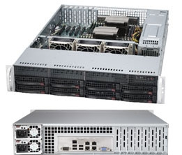Supermicro Superserver SYS-6027R-TRF 2U DP Xeon E5-2600 LGA2011 8-Core DDR3 8x3.5-in SATA3 Hot-Swap R740W, Black