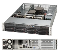"Supermicro Superserver SYS-6027R-WRF 2U Dual socket R (LGA 2011) supports Intel i350 Dual port Gigabit Ethernet Controller; 2x LAN ports 8x Hot-swap 3.5"" SAS/SATA HDD bays for Customizable Storage 740W Redundant Power Supplies Full Warranty"