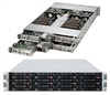 "Supermicro Superserver SYS-6027TR-HTQRF 2U Dual socket R (LGA 2011) supports Intel Xeon processor E5-2600 Intel i350 Dual port Gigabit Ethernet 3x Hot-swap 3.5"" SATA3/SATA2 HDD Bays  1620W Redundant Power Supplies Full Warranty"