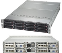Supermicro SYS-6029TP-HTR SuperServer/ TwinPro Server/ Hot-Pluggable Systems/ 2U Rackmount/ Dual LGA3647/ Intel C621/ X11DPT-PS Motherboard/ Flexible Networking support via SIOM/ Dedicated IPMI 2.0 LAN/ 2200W Redundant Power Supplies/ Titanium Level