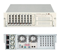 Supermicro 3U Server SYS- 6035B-8R / 6035B-8RB Dual 771-pin LGA Sockets Platinum Level power supplies Full Warranty (Black & Beige)Xeon®Processor