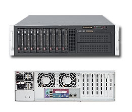 Supermicro 3U Server SYS-6036T-6RF Dual 1366-pin LGA Sockets Platinum Level power supplies Full Warranty (Black) Intel® Xeon® processor 5600/5500