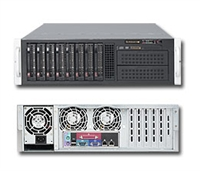 Supermicro 3U Server SYS- 6036T-TF Dual 1366-pin LGA Sockets Platinum Level power supplies Full Warranty (Black)