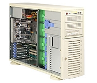 Supermicro Intel 4U SYS-7044A-i2 Dual 604-pin FC-mPGA4 Sockets Supports up to two Intel 64-bit Xeon processor Intel 82546GB Dual-port GbE 2 x 4-IDE Hard Drive Carriers  645W Low-Noise Power Supply Full Warranty