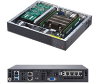 Supermicro SuperServer E300-9D Embedded/IoT Intel Xeon processor D-2123IT, Compact, Network Security Appliance, SDN-WAN, vCPE controller box, NFV Edge Computing Server, Virtualization Server, IoT Edge Computing / Gateway