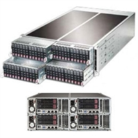 Supermicro FatTwin 4U SYS-F627R2-RTB+ Server Dual socket R (LGA 2011) supports Intel Xeon processor E5-2600 IPMI 2.0 SAS2 support via LSI 2208 1280W Redundant Power Supplies Full Warranty