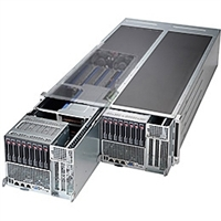 "Supermicro FatTwin 4U SYS-F647G2-F73PT+ Server Dual socket R (LGA 2011) supports Intel Xeon processor E5-2600 IPMI2.0 8x 2.5"" Hot-swap SAS/SATA HDDs;SAS2 support via LSI 2308 2000W Redundant Power Supplies Full Warranty"