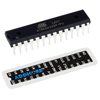 ATmega328P-PU DIP-28 Chip with Arduino Uno Bootloader and Addicore Pinout Sticker