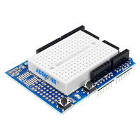 Proto Shield for Arduino with Mountable White 170 tie point Breadboard
