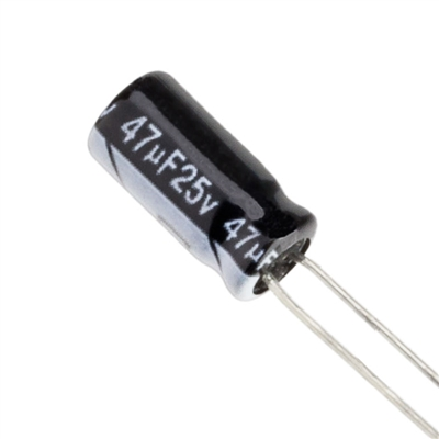 47uF 25V Electrolytic Capacitor
