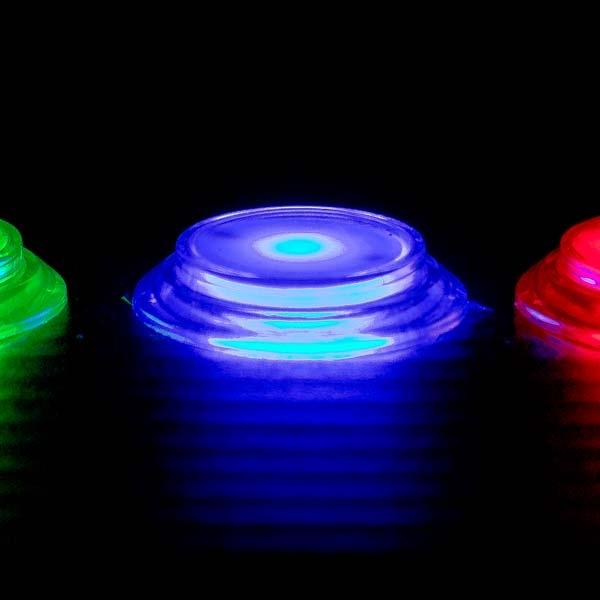 Blue LED Arcade Pushbutton with Black Bezel