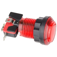 Red Illuminated Arcade Push Button