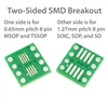 8 Pin SOIC, SOP, SO, MSOP, and TSSOP Breakout Board