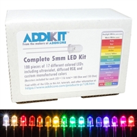 LED AddiKit with 100 5mm LEDs in 17 Different Colors with Resistors