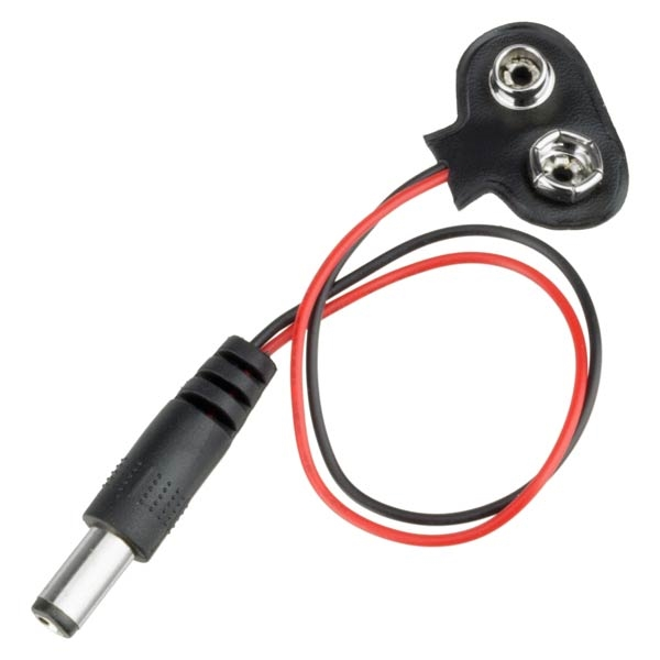 Addicore 9V Battery Cable and Barrel Plug