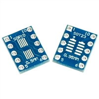 10 Pin SOT23, SOP, MSOP, and UMAX Breakout Board