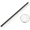 "Angle Male Header 1x40 Pins 0.1"" (2.54mm) Spacing"