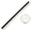 "Dual Male Header 2x40 Pins 0.1"" (2.54mm) Spacing"