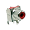 Red RCA Jack. Pin compatible with CUI RCJ-01X series jacks. CUI Red part number RCJ-012