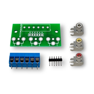 Boffintronics RCA Triple Breakout Board Kit