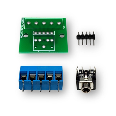 Boffintronics 3.5mm Headphone Jack Breakout Board Kit
